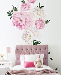 Wall Mural Decals Nature by Peony Flowers Wall Sticker Watercolor Peony Wall Stickers Peel