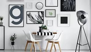 esszimmer idee in schwarz weiß mit tischdeko