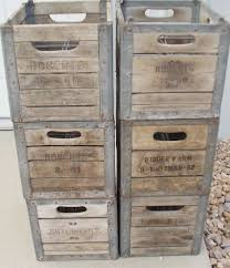Photo 1 Of 7 Vintage Old Wood And Metal Milk Crate Stackable Wine By Luvredford 4500 Attractive