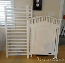 Side Crib Attached To Bed by Repurposed Crib Dog Crate