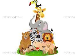 stickers jungle chambre bébé stickers muraux chambre bébé safari zoo animaux artpainting4you