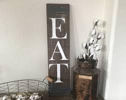 Eat Sign Farmhouse Fixer Upper Decor Rustic Wood Kitchen