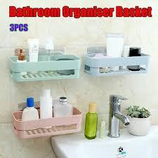 3pcs badezimmer aufbewahrung dusche gestell halter regal küche korb random faben