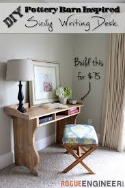diy sicily writing desk free plans pottery barn inspired