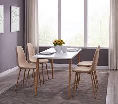 Amazon.com - IDS Kitchen Dining Table Set For 4, Mid-Century Table ... Minimal Ding Rooms That Offer An Invigorating New Look New York Herman Miller Eames Chair Ding Room Modern With Ceiling Eatin Kitchen With Rustic Round Table Midcentury Chairs Hgtv Senarai Harga Ff 100cm Viera Solid Wood 4 Shop Vecelo Home Chair Sets Legs Set Of Eames Youtube Biefeld Besuchen Sie Pro Office Vor Ort Room Progress Antique Meets Stevie Storck Modern Fniture Uk Canada For Style By Stang 5pcs Tempered Glass Top And Pvc Leather Saarinen Design Within Reach Buy Midcentury Online At