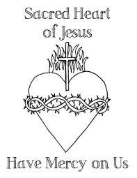 Click Here For A Coloring Page With Just The Sacred Heart