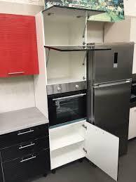 küche küchenzeile inkl e geräte 340cm hochglanz schwarz rot neu