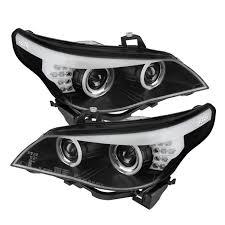 spyder black ccfl halo projector headlights for 2004 2007 bmw 525i