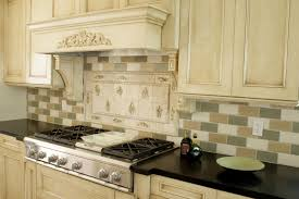 tumbled tile backsplash what do you put on top of cabinets