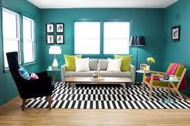View In Gallery Green Teal And Black White Living Room