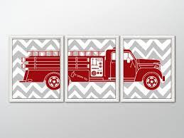 100 Fire Truck Wall Art FIRE TRUCK Decor Fighter Gift Etsy