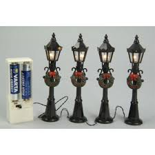 Lumineo 4 Miniature Battery Operated Street Lamps