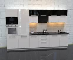 küche hochglanz weiß schwarz ohne geräte xavien
