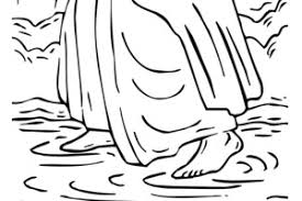 Bible Coloring Pages Jesus Walks On Water