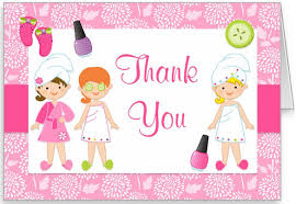 Spa Birthday Party Thank You Card