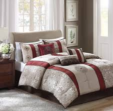 Hudson Park Bedding by Amazon Com Madison Park Donovan 7 Piece Comforter Set King Red
