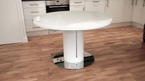 100 White Gloss Extending Dining Table And Chairs Amazing Curva Round Rounding Of