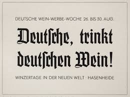 In specimens of the early 1930s German type foundries suggested