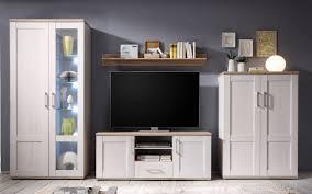 wohnwand anbwauwand wohnzimmer set wohnkombination weiß