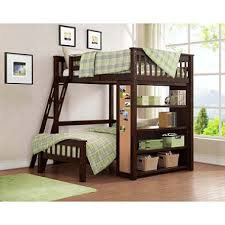 emily full over twin bunk bed with bookshelf sam s club