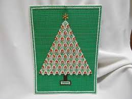 Image Is Loading Vtg Hand Crafted Beaded Sequin Christmas Tree Wall