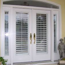 Sliding Door With Blinds In The Glass by 33 Best Window Treatments For Doors Images On Pinterest Glass