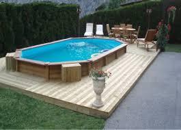 stunning piscine semi enterrée composite contemporary
