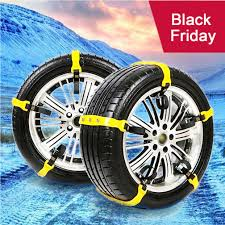 UPGRATED]Snow Chains Anti-Skid Emergency Snow Tire Chains, Portable ...