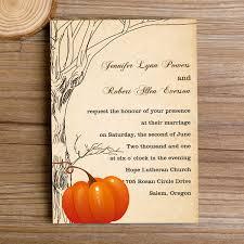 Fall Pumpkin Rustic Wedding Invitations IWI259