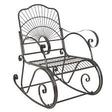 100 Rocking Chair Wheelchair ZENY Patio Metal Porch Seat Deck Outdoor Backyard
