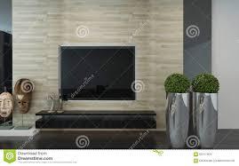 an der wand befestigtes fernsehen in einem modernen
