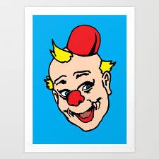 100 Pop Art Home Decor Clown Art Clown Illustration Clown Pop Art Home Decor Print