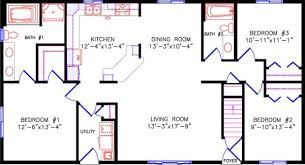 One Level House Floor Plans Colors Simple One Story Open Floor Plan Rectangular Google Search