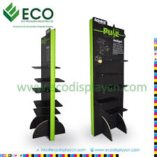 Retail Advertising Cartoon Cardboard Floor Display Stands For Sports Shoes