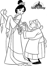 Printable Disney Princess Mulan Coloring Pages