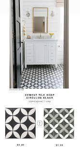 cement tile shop circulos black tile copycatchic