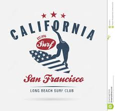 Download California Surf Typography T Shirt Graphics Logo Club Stock Vector
