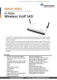 Comtrend VI-3223u - Wireless VoIP IAD Yealink Sipt22 Voip Phone Sip Account 3 Line Ip With Hd Gigaset Pro Maxwell Basic Desktop 4 Sip 2 Voip Best Voip Clients For Linux That Arent Skype Linuxcom The Xlite Setup Cheap Calls From A Computer Maxs Experiments How To Create Free Account On Windows 10 Youtube Setting Ip Escene Dari Briker Muhammad Dp720 Dect Cordless User Manual Grandstream Networks Inc Cant Register My Iinet Voip Account Top 5 Android Apps Making Free Calls Clickncall Fritzbox 7490 Cfiguration Simply Sipt18 1 Hotline 3way