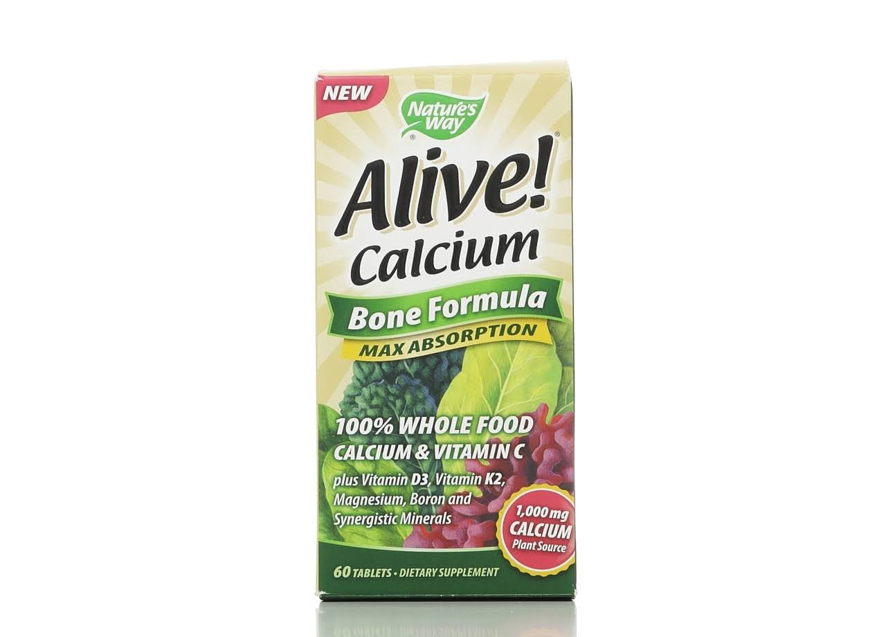 Nature's Way Alive Calcium Bone Formula Tablets