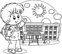 School Days Coloring Pages Kids Wallpaper