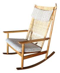 100 Woven Cane Rocking Chairs Hans Olsen Teak Danish Chair Metro Eclectic