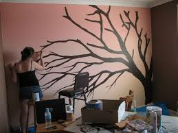 Blossom Tree Painting On Wall