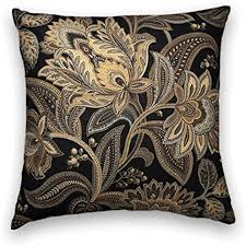 100 Cooper Designs Cody And Black Gold Floral Decorative Throw