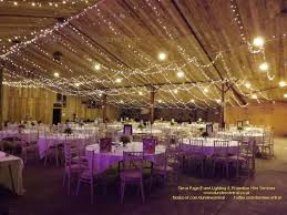 Wedding Lighting Fairy Light Canopy Installed At The Comrie Croft Barn In Perthshire
