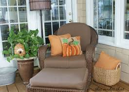 Inexpensive Screened In Porch Decorating Ideas by Fall Back Porch Decorating Ideas This Makes That