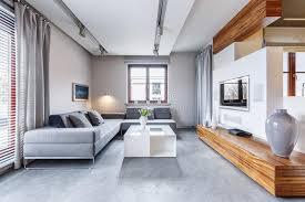 graues modernes wohnzimmer stockfoto bild tabelle