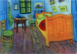 Vincent Van Gogh Bedroom in Arles 3D Lenticular Postcard