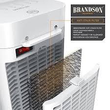 brandson heizlüfter mit fernbedienung keramik heizlüfter badezimmer energiesparend leise schnellheizer mit oszillationsfunktion 2x heizstufen