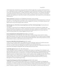 Cover Letter Morgan Stanley Letters For It Samples