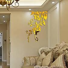 wandaufkleber wandtattoos ronamick 3d diy acryl wandaufkleber moderne aufkleber dekoration wandtattoo wandaufkleber sticker wanddeko gold